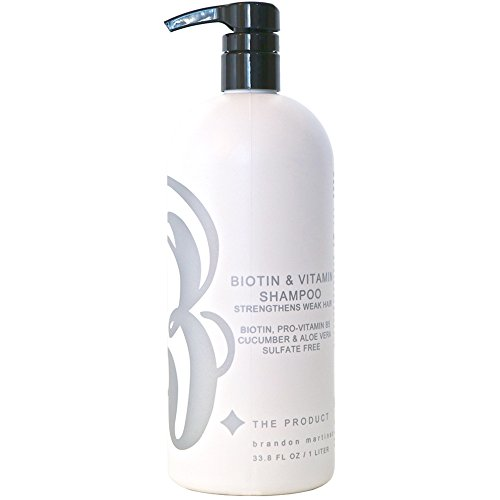 Biotin Vitamin Shampoo For Hair Growth, Aloe Vera & Cucumber With Pro Vitamin B, B. THE PRODUCT 33.8oz