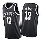 KJX Camiseta de baloncesto para hombre, 2021 temporada Nets #13 Harden sin mangas de secado rápido, transpirable, camiseta deportiva para entrenamiento, color negro B-M
