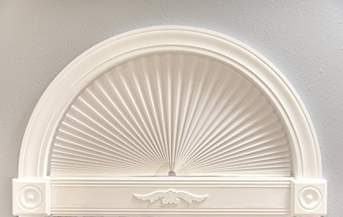 Redi Shade 3206075 Original Light Filtering Fabric, White, 72 in x 36 in Pleated Arch Window Shade