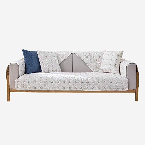 kinfuki Almohadilla de protección contra Desgaste Grietas Funda para sofá,Funda Sofa Protector Adaptable,Funda de cojín de sofá Acolchada de Tela, White_110 * 160