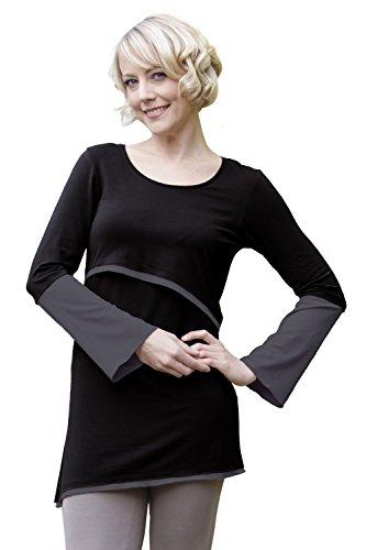 Amyline Luna Tunique d'allaitement Black-Stone Taille M