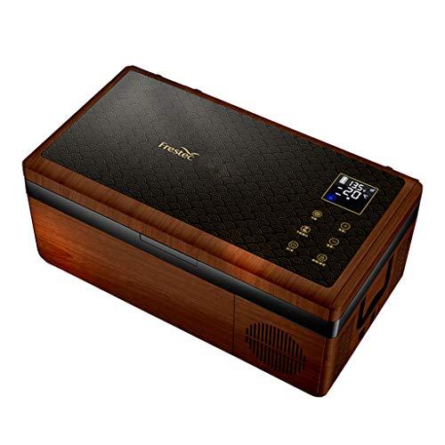 Mini Fridge LS 15 litros Frigorífico Congelador Portátil Refrigerador De Coche Refrigerador Casero con Compresor, Zona Dual, Pantalla LCD, -20 ° C ~ 10 ° C, 12V / 24V / 110V ~ 240V