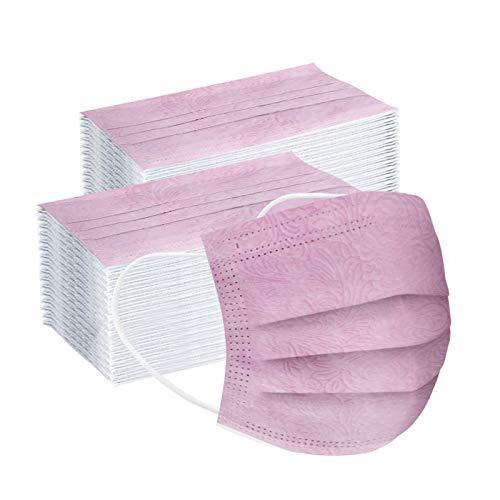 YpingLonk 100 pc Unisex Bufanda Adulto desechable Moda Universal Confort elástico Earloop handkeref Shawl para Mujeres hombres-20201112-011