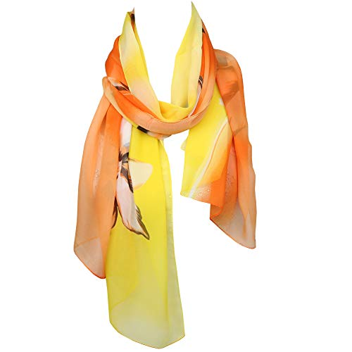 N-A sjaal voor dames, chiffon, licht, lang, zonwering, voile, scarf, cadeau 50 x 160 cm