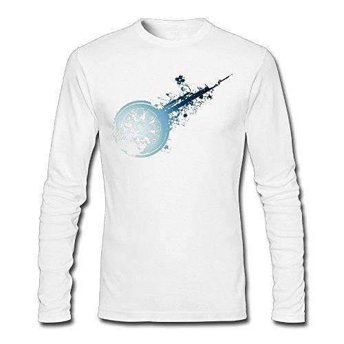Camiseta de Manga Larga LCNANA Final Fantasy XIV Game para Hombre de algodón de Primavera y otoño, Color Blanco