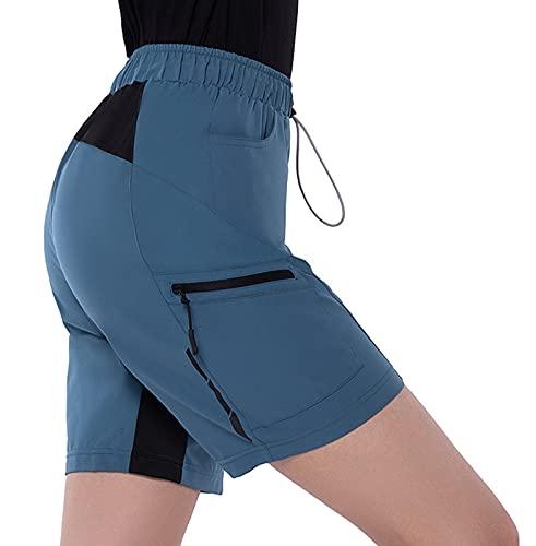 Cycorld MTB Hose Damen Radhose,Schnelltrocknend Fahrradhose Damen Mountainbike Hose,Atmungsaktiv Radlerhose Damen Elastische Outdoor Bike Shorts (M, Pfauenblau)