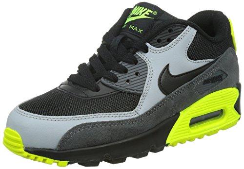 Nike Junge Air Max 90 Mesh (Gs) Sportschuhe, schwarz (Black/Black-Wolf Grey-Drk Grey), 38 EU