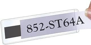 STORE SMART Clear Plastic Shelf Tag/Label Holder - Magnetic Back - 1