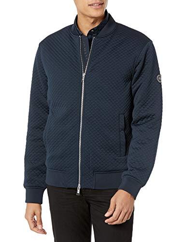 Armani Exchange Navy Allover Jacket Chaqueta, Azul Marino, M para Hombre