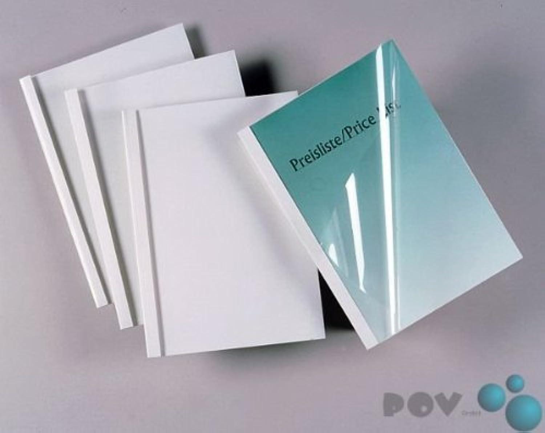 POV® Thermobindemappen Standard, weiß, 25,0mm, DIN A4, 50er Packung B00BPUILNM   Die Qualität Und Die Verbraucher Zunächst