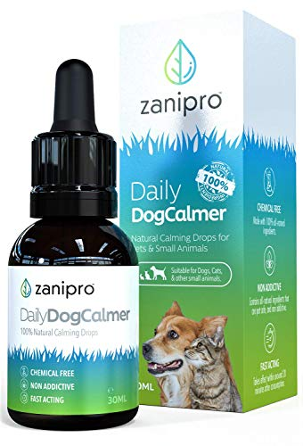Zanipro Dog Calming Drops - UK Made 100% Natural - Nervous System Safe - Aids All Pets - Daily Calmer And Anxiety Relief Supplement (30ml)
