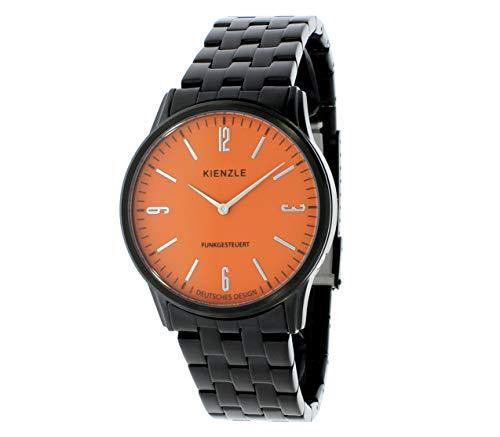 KIENZLE 1822 Herren-Funkuhr schwarz-orange Quarz Herrenuhr Modell DW-00166