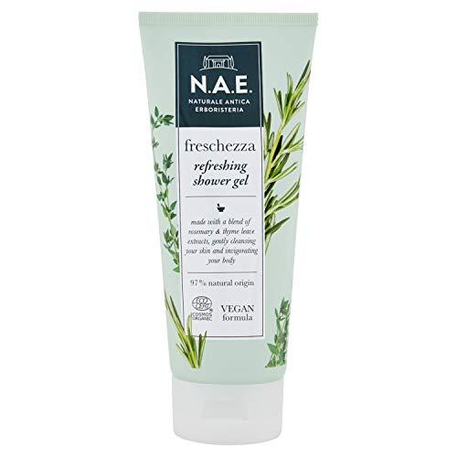 N.A.E. Douchette fraîcheur, gel douche avec extraits de feuilles de thym bio et romarin, formule Vegana, 200 ml