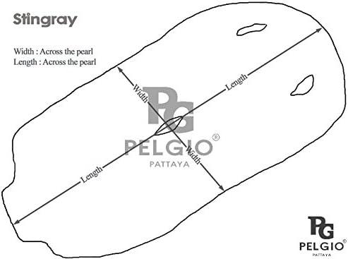 Real Genuine Polished Stingray Shagreen Skin Leather Soft Hide Pelt Red Grade A