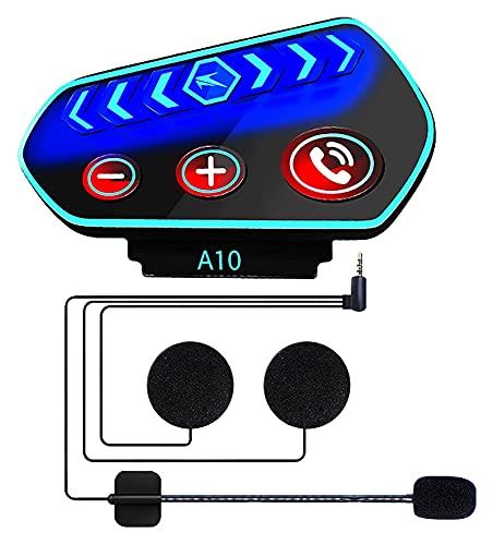 XXJIC Auriculares Bluetooth del Casco de la Motocicleta, Altavoces de Calidad Ultra Delgada, Llamadas entrantes transmiten Auriculares al Aire Libre, Auriculares de Motocicleta