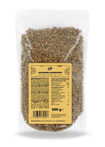 KoRo - Semi di girasole tostati con miele e sale 500 g - Semi dolci come snack gustoso