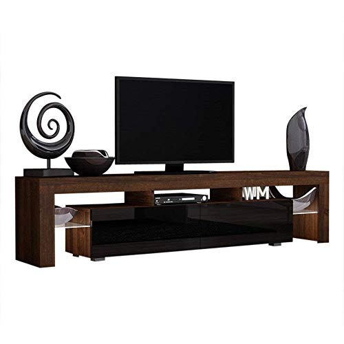 Milano 200 TV modern tv units/tv stand furniture/TV media stands Color (Walnut & Black)