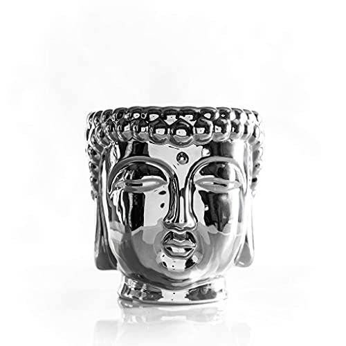 Thompson Ferrier – Buddha scented candle collection – White Tea & Mint fragrance Home Decor Candle - Silver - Hand sculpted and hand poured with the finest essential oils