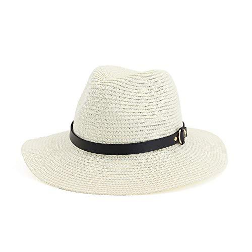 SUCCESSS Jazz Cappello Cappello di Paglia Femminile all'aperto ombrellone Jazz Bianco Latte Regolabile