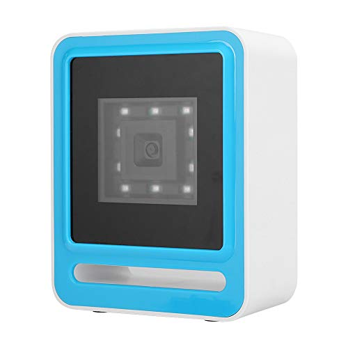 Dpofirs Lecteur de Codes à Barres, Scanner Multifonctionnel Universel 1D 2D pour Windows/OS X/POS, Lecteur de Codes à Barres à Grand Angle de Balayage Haute Vitesse, numérisation Automatique(Blanc)