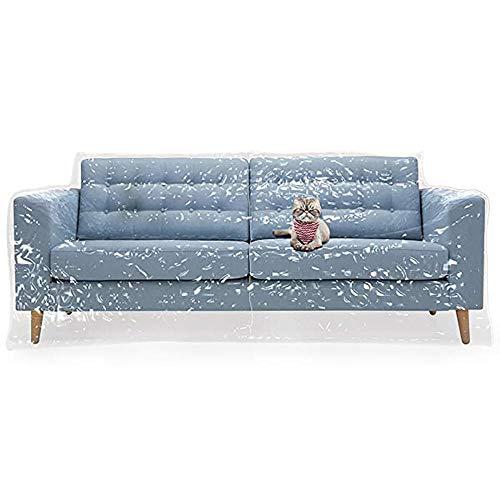 Zoeay Cubierta De Sofá De PláStico para Mascotas,Cubierta De Sofá De PVC Espesada EcolóGica,Cubierta De Sofá Transparente A Prueba De ArañAzos,Adecuado para La ProteccióN del Sofá