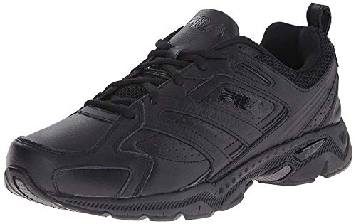 Fila Men's Capture Running Shoe,Triple Black,8 M US