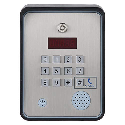 Tonysa Citofono Audio gsm, Controller di Accesso apriporta DC 12V Sistema di Controllo accessi interfono in Acciaio Inossidabile con, Ideale per telefoni cellulari