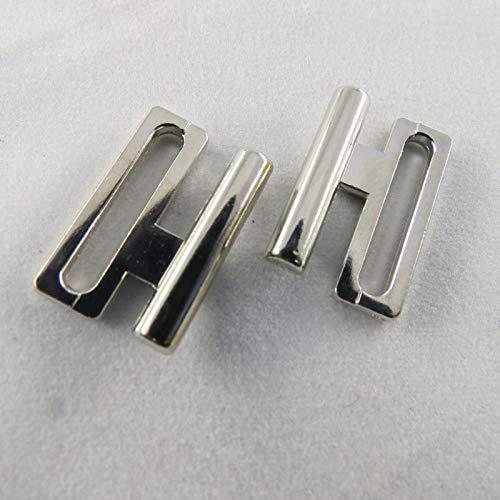 - BH Bikini Verschluss Metall Kunststoff Plaste Bikiniverschluss 14 20 mm/Material/Farbe=Metall Nickel | Größe=14 mm