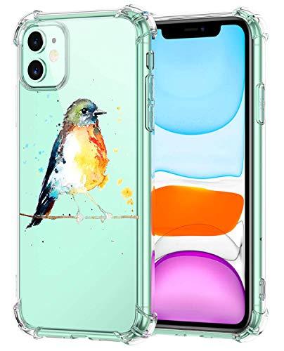 Oihxse - Carcasa de silicona para iPhone 12 Mini de 5,4' 2020, transparente de poliuretano termoplástico suave, protección contra golpes, ultrafina (A11)