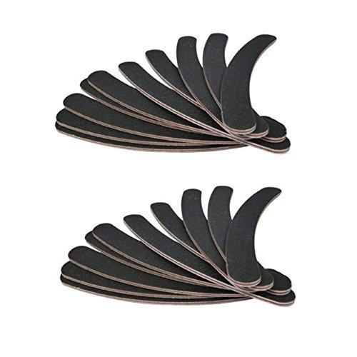 Cascove 20 doppelseitige 100/180 Grit Bumerang Banane Gebogene Nagelfeilen Emery Gel Tipps