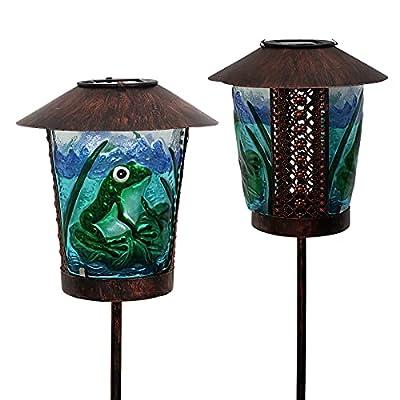 Amazon - 15% Off on Solar Lights Outdoor Garden Decor – Frog Paint Lantern Stakes Decorative
