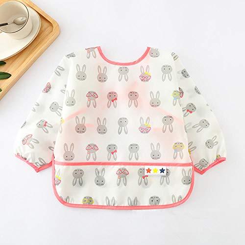 0-2 ans Tablier de bavoirs réglables à manches longues pour bébé Accessoires bébé Stuff Toddler Kids-rabbit