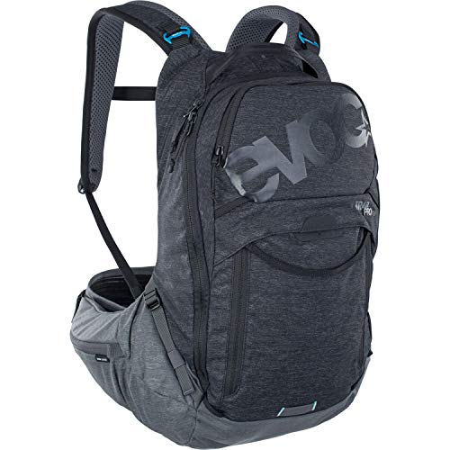 Evoc Trail Pro 16 Black/Grey L/XL Unisex Adult Mountain Bike Backpack with Protection