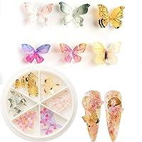 1ボックス 30個 ピンク 紫 春ネイル 蝶々 スターズ ネイルパーツ ネイルデコ デコ ネイルアート (E)