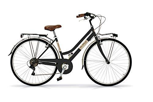 Via Veneto 28'; Bicicleta Mujer Retro Vintage Bici Citybike Negro - Airbici