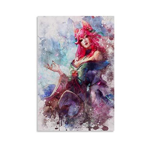 haohaizi Ahri Poster, dekoratives Gemälde, Leinwand, Wandkunst, Wohnzimmer, Poster, Schlafzimmer, Gemälde, 40 x 60 cm