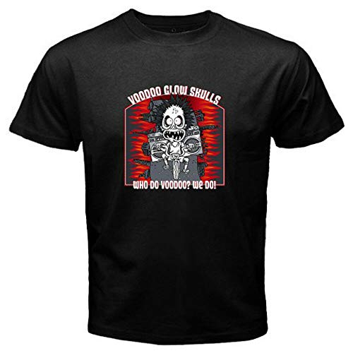 YBQ Voodoo Glow Skulls Who Do Voodoo? We Do! Men's Black T-Shirt Size S-3Xl
