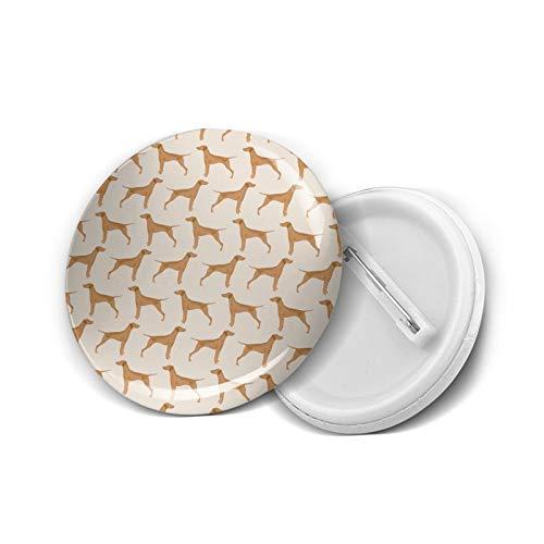 Insignia redonda DIY Botones Vizsla Perro Linda Mascota Perro Telas Dulces Perros Moda Titular Mini Broches Pin Insignias Botones Ropa Pines 4.5 cm