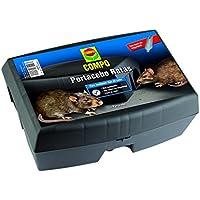 Compo Repelente Barrera Caja portacebos, Colocar cebos para roedores, Plástico, Negro, 12 x 17 x 23.5 cm