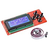 DEVMO 2004 LCD Smart Display Screen Controller Module with Cable for RAMPS 1.4 Mega Pololu Shield Compatible with Reprap 3D Printer Kit Accessory
