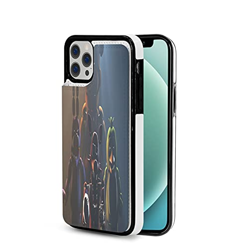 Best Five Nights at Freddys iPhone 12 Leather Case,Compatible with iPhone 12 Pro Max 6.7 Inch Case - Wallet Case with Pu Leather Card Pockets Back Flip Cover