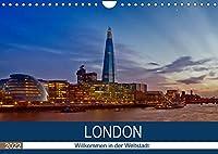 LONDON Willkommen in der Weltstadt (Wandkalender 2022 DIN A4 quer): Zwischen Moderne und Historie (Monatskalender, 14 Seiten )