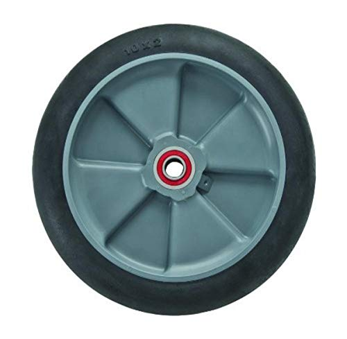 Magline 10830 8' Diameter Balloon Cushion Wheel with Red Sealed Semi Precision Ball Bearings