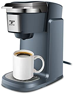 Single Cup Coffee Maker -Personal Single Serve Coffee Brewer Machine K Cup Pods Compatible Quick Brew Technology By Moss And Stone