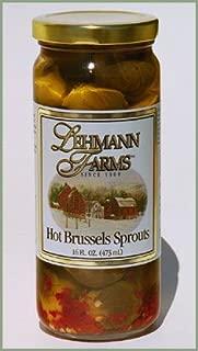 Lehmann Farms Hot Brussels Sprouts / 16 oz. Jar