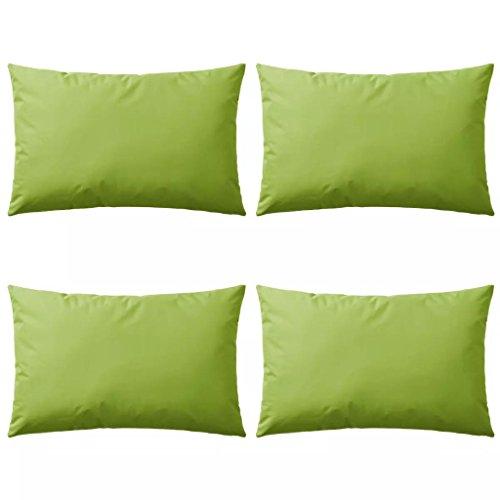 vidaXL 4X Cojines para Exteriores 60x40cm Verde Manzana Casa y Jardin Hogar
