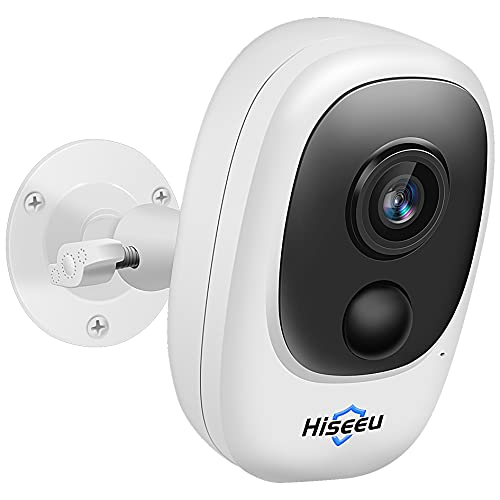 Hiseeu Outdoor Battery Camera,Wireless Security Camera,Rechargeable...