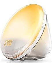 Philips Wake-up Light - Despertador de luz led, radio FM, simulación del amanecer y del atardecer
