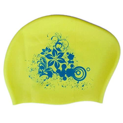 DSDBDym Gorro Natacion, Gorra de natación 100% de Silicona para Cabello Largo para Mujer Gorras de natación a Prueba de Agua para Mujer Sombrero de la Capucha de Buceo para niños (Color : B)