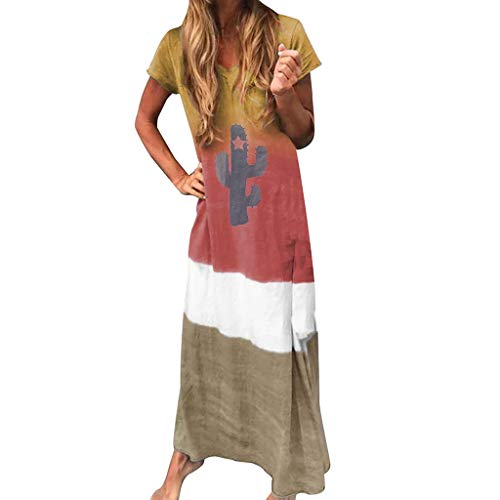 ღLILICATღ Vestidos de Fiesta Cortos de Noche Vestidos Verano Mujer bestidos Vestido Casual de Playa ni/ña Sundress Dress Mini Vestido de Manga Corta Casual con Volantes